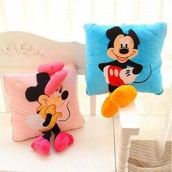 35cm Kreative 3D Mickey Maus und Minnie Maus Plüsch Kissen Kawaii Mickey und Minnie Plüsch Spielzeug Kinder Spielzeug Weihnachten geschenke