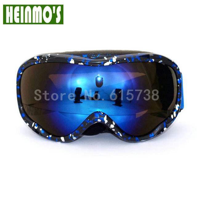 New ski goggles dual lens uv protection snow skiing glasses snowboard anti-fog eyewear goggle bilayer lens Orange Lens