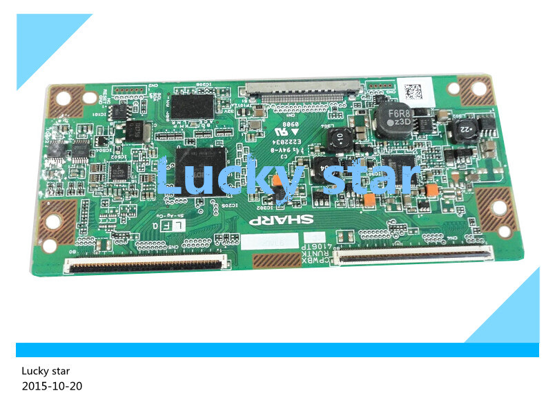 все цены на 98% new good working High-quality original for board E222034 CPWBX RUNTK 4106TP T-con logic board 2pcs/lot онлайн