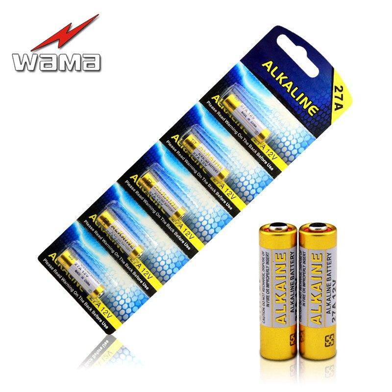 20 штук/4 pack зава Щелочная 12 В <font><b>27A</b></font> основной сухой Аккумуляторы A27 27AE 27MN 25 мАч Электронные игрушки Батарея оптовая продажа Прямая доставка