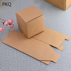 Image 5 - 50 sztuk papierowe opakowanie kraft box czarny/biały/papier pakowy kwadratowe pudełko na cukierki impreza weselna upominek prezent Box czarny paeprcardboard Box