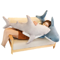 1pcs 100CM big Giant Hammerhead Shark Plush Toy High Quality Lifelike Shark Toy Soft Stuffed Animal Kids Gift
