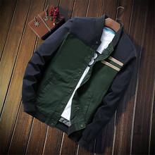 лучшая цена New Spring Bomber Jacket Men Streetwear Hip Hop Slim Fit Pilot Bomber Jacket Coat Men Jackets Plus Size 5XL Dark Blue Brown
