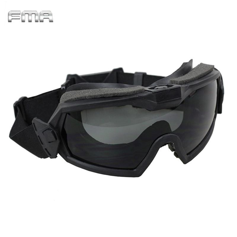 FMA LPG01BK12-2R Regler Goggle Mit Fan Aktualisiert Version Tactical Airsoft Paintball Sicherheit Augenschutz Brille Brillen