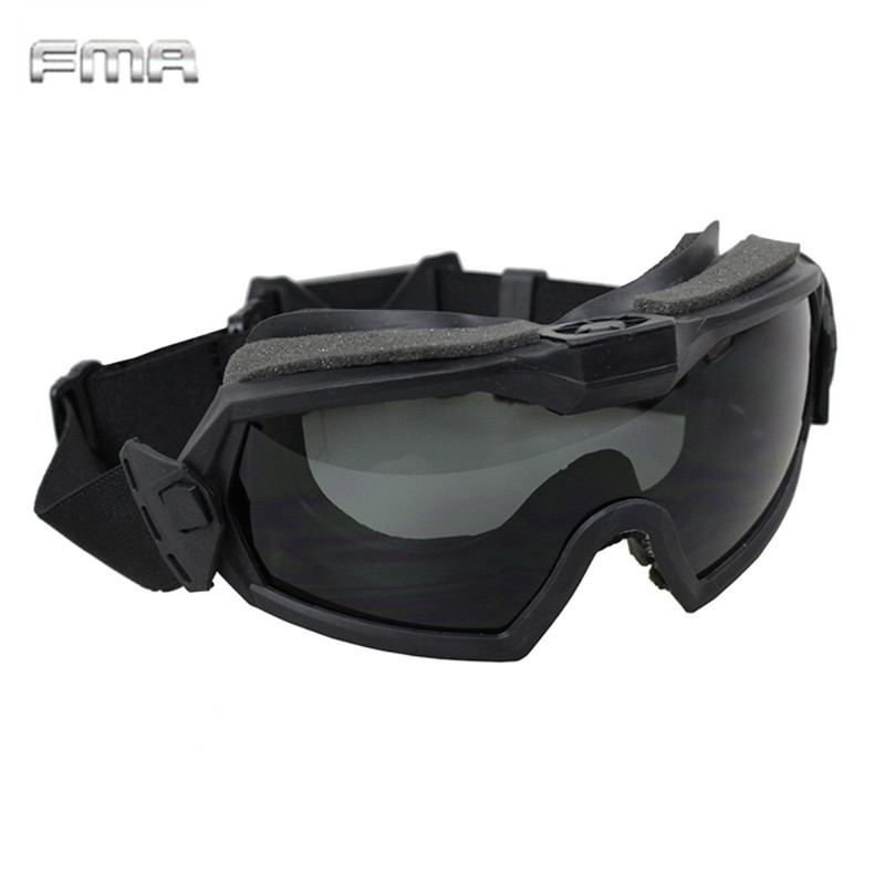 FMA LPG01BK12-2R Regulator Goggle With Fan Updated Version Tactical Airsoft Paintball Sa ...