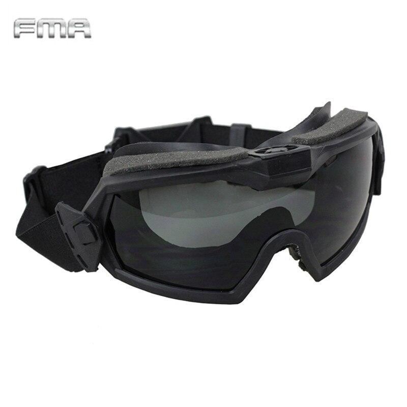 FMA LPG01BK12-2R regulador Goggle con ventilador actualizado versión Tactical Airsoft Paintball Seguridad Protección de los ojos gafas