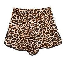 2018 Summer Sexy Leopard Shorts Women Plus Size S-XXL Loose Cotton Shorts Casual High Waist Short Pants