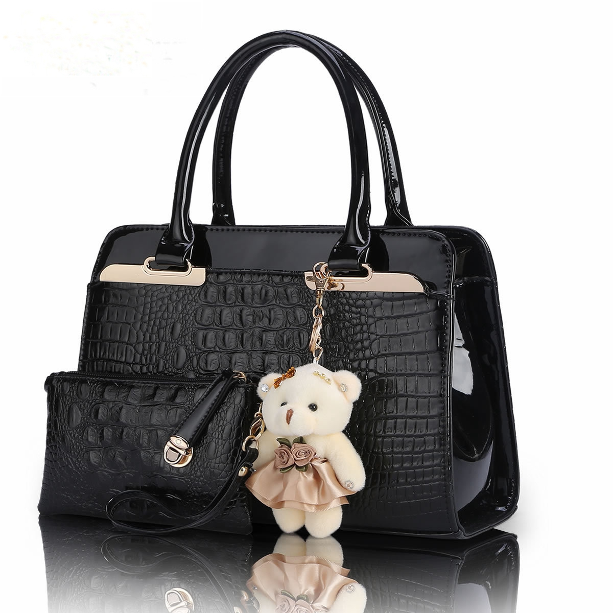 Women Bag Composite 2016 Spring Fashion Top PU Leather Handbag Shoulder Crossbody Black Luxury Ladies Famous Brand New Solid free shipping new fashion brand women s single shoulder bag ladies handbag top pu leather wholesale price 100