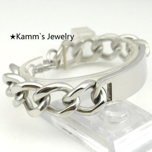 14mm Width Fashion 2016 Cuff bracelets Mens Silver Stainless Steel ID Hot Sale Heavy Cool, For Biker, Gift, kids jewelry,KB020