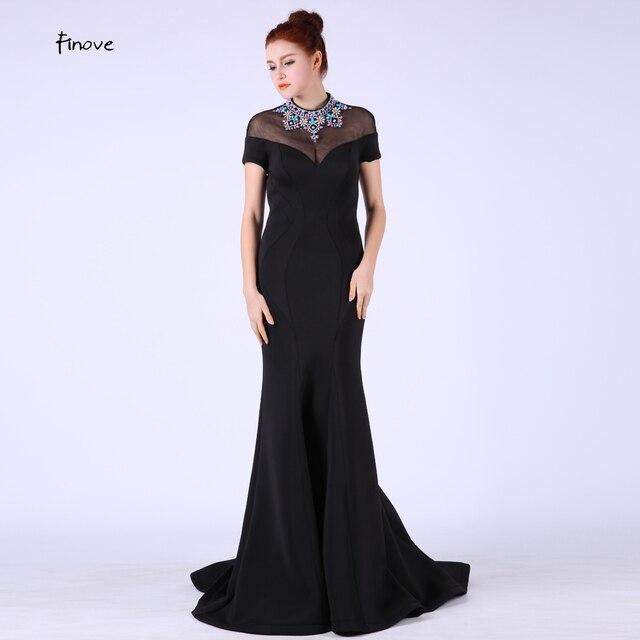 9314e0044 Vestidos De Fiesta Largos elegantes Vestidos de noche largo De 2019 negro  sirena fiesta novia Formal