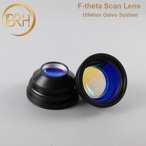 Image 2 - BRH F theta Lente Lente di Campo 1064nm di Scansione 50x50 300x300mm FL.63 420mm Filo M85X1 per Laser In Fibra marcatura di Parti di Macchine