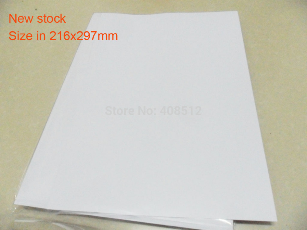 40 Sheets A4 216x297mm Blank Waterproof Sticker Paper