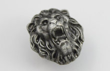 The Lion Design Animal Cabinet  Knobs / Dresser Drawer Pull HandlesUnique Antique Silver