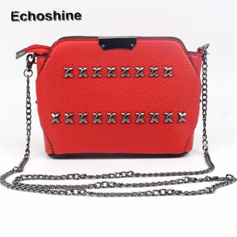2016 new brand and high quality Women Fashion Rivet Handbag Shoulder font b Bag b font