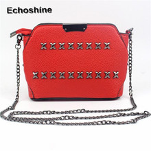 2016 new brand and high quality Women Fashion Rivet Handbag Shoulder Bag Large Tote Ladies Purse Messenger Bag wholesale