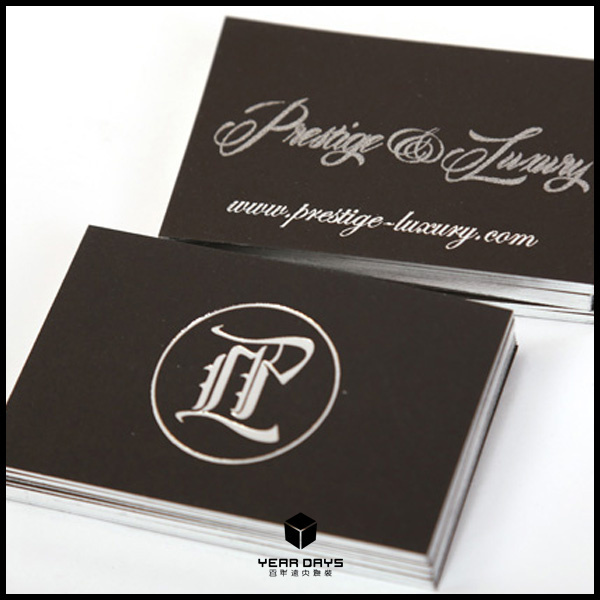 High end gold edge business cards noble golden printing custom high end gold edge business cards noble golden printing custom business card hot foil stampingblocking thick 600gsm white card in business cards from reheart Choice Image