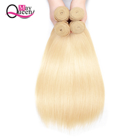 Brazilian Blonde Bundles With Closure Straight Hair Bundles With Closure Remy Human Hair South Africa Shipping Free May Queen