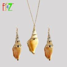 Женский комплект украшений fj4z набор сережек и ожерелья с подвеской