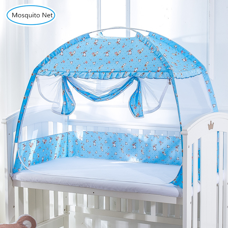 Baby Bed Mosquito Net Holder Infant Netting Cover Child Bed Shading Of Mongolia Yurts Dust Cover Mosquito Nets For 0-5Y Children
