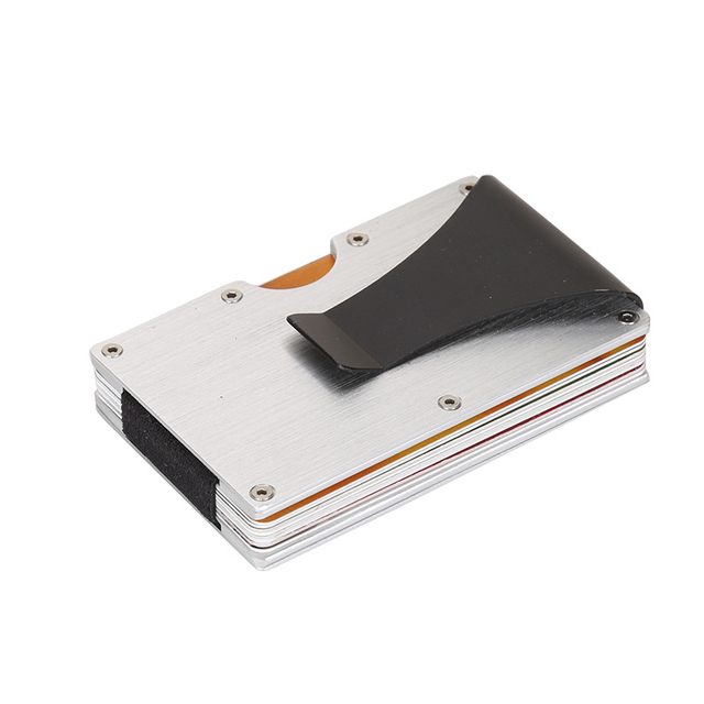 rfid blocking credit cards bank card holder male and female metal business card case stainless steel - Metal Business Card Case