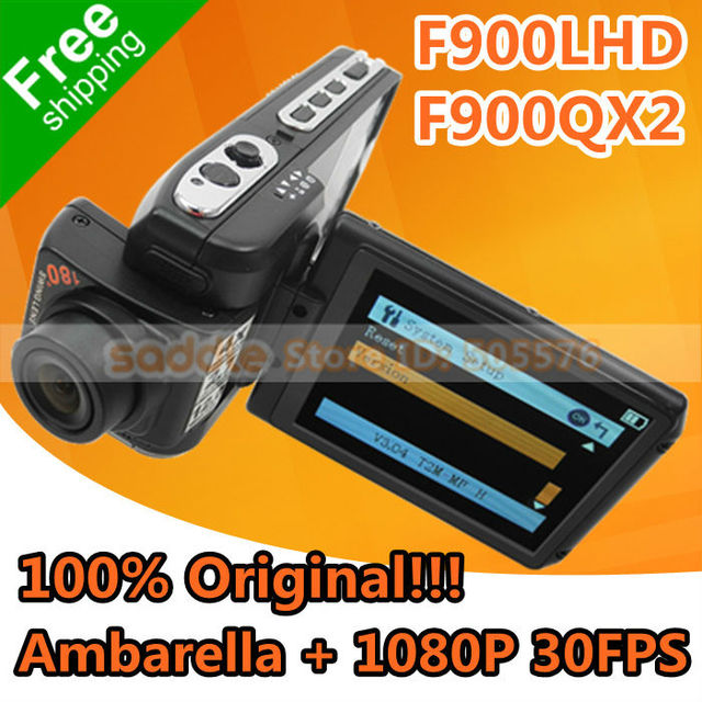 "Car DVR Recorder Original F900LHD F900QX2 with Ambarella + 12MP + Full HD 1080P 30FPS + H.264 + 2.7"" LCD + Complete Package!"