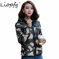2017 Winter Large Size Loose S 3XL Women S Coat Down Cotton Clothes Couple Camouflage Winter