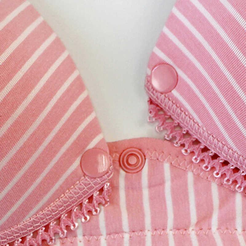 ชุดชั้นในหัวเข็มขัดหัวเข็มขัดบาง Sleep Bras สำหรับให้นมบุตรตั้งครรภ์ผู้หญิง Feeding Bra ชุดชั้นในเสื้อผ้า
