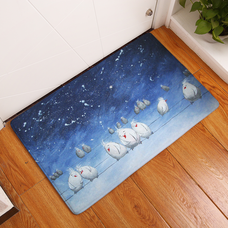 Cartoon Flannel Carpet Angel And Devil Printing Mat For Living Room 40x60cm  50X80cm Door Mat Rectangle Tapete