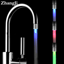 Zhangji 3 Color Changing Led Faucet Light led light water faucet Water Saving Kitchen Aerator Light Led Faucet Aerator ZJ122