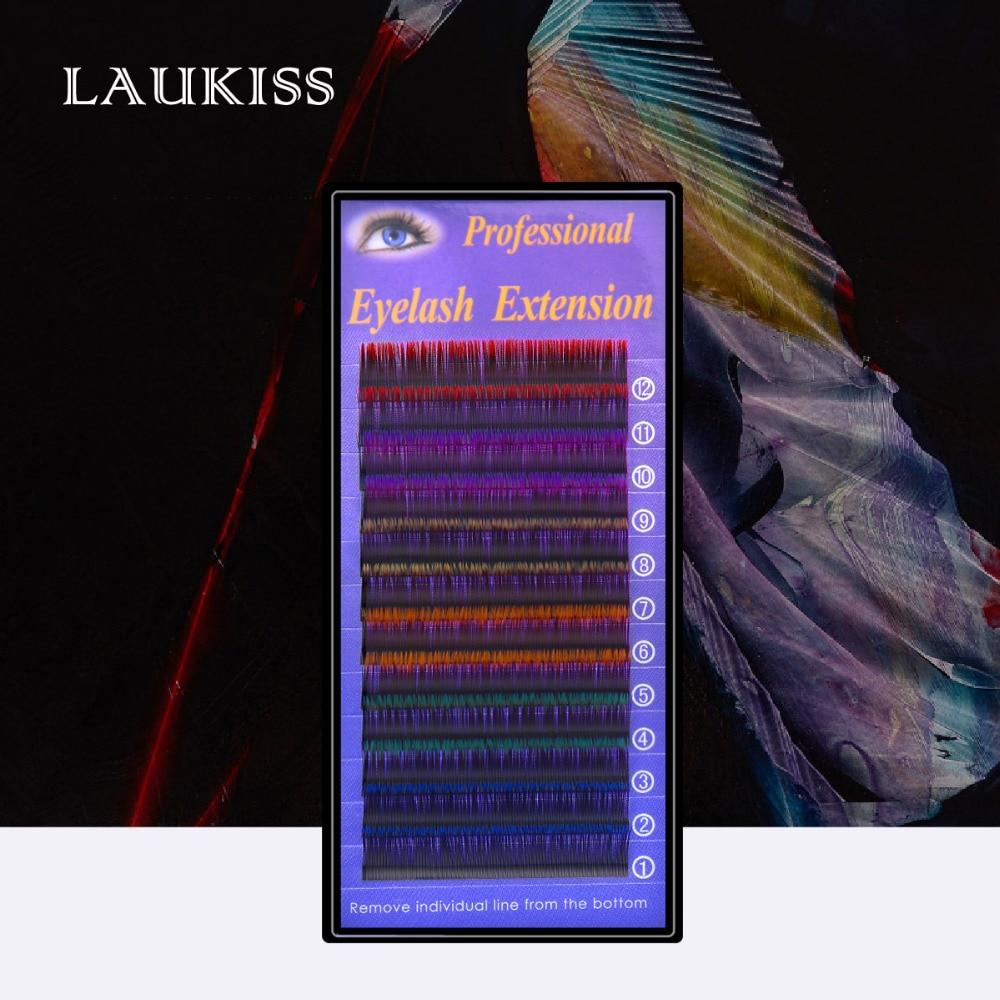 Цветные ресницы Индивидуальные натуральные ресницы Наращивание ресниц Профессиональные косметические ресницы Красочные перманентные шелковые ресницы Реснички для макияжа