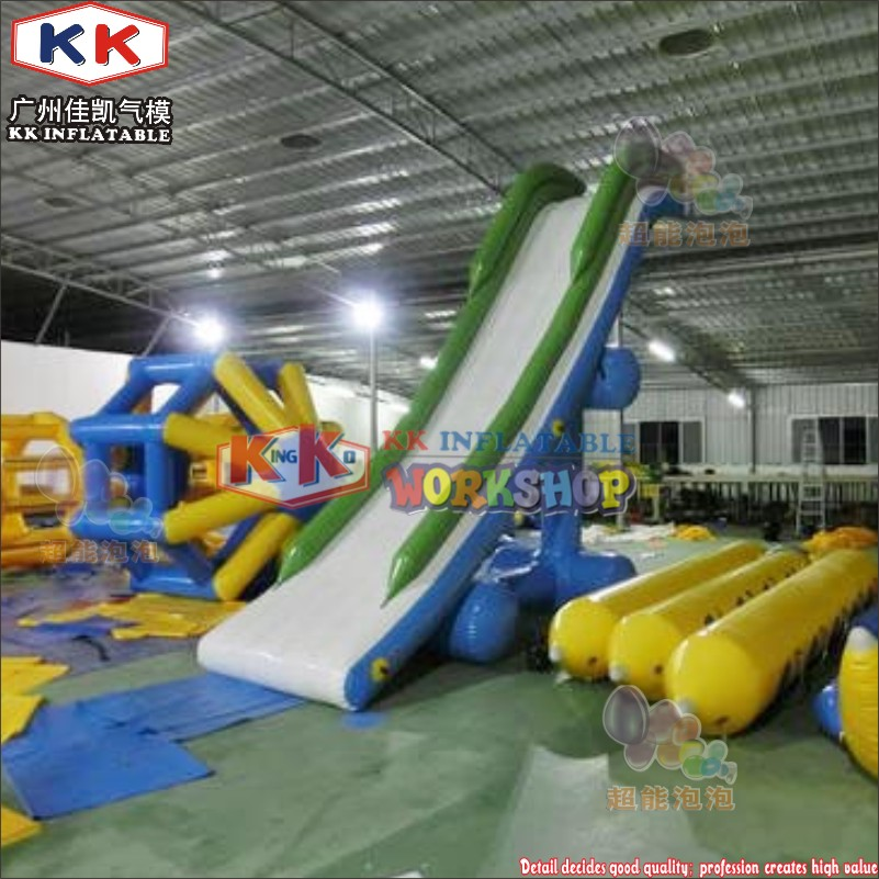 Commercial Airtight Yacht Slide Inflatable water games customized houseboat inflatable slide for adults