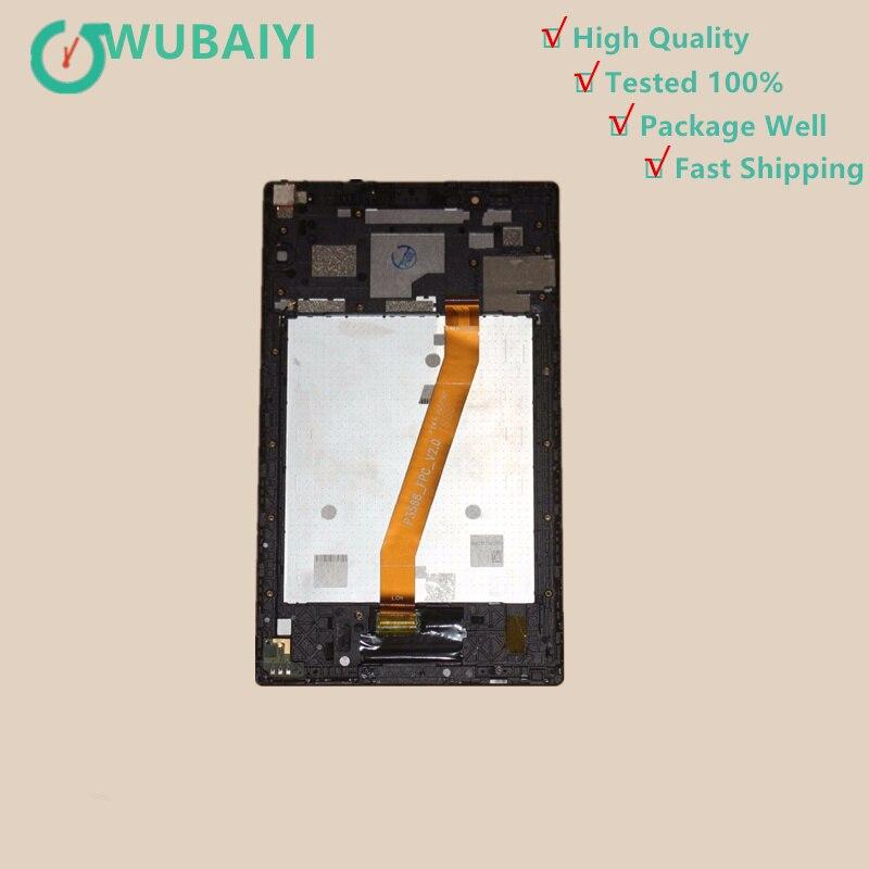 Écran tactile Digitizer Verre + LCD Assemblée D'affichage Avec Cadre Pour Lenovo Tab 4 TB-8504X TB-8504 TB-8504P 1280x800 4g LTE 8