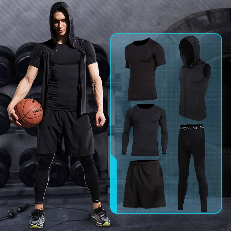 2017 New Mens Compression Sports underwear Suits Quick Dry Running Sets Clothes Basketball Tights Gym FitnessTraining Tracksuits