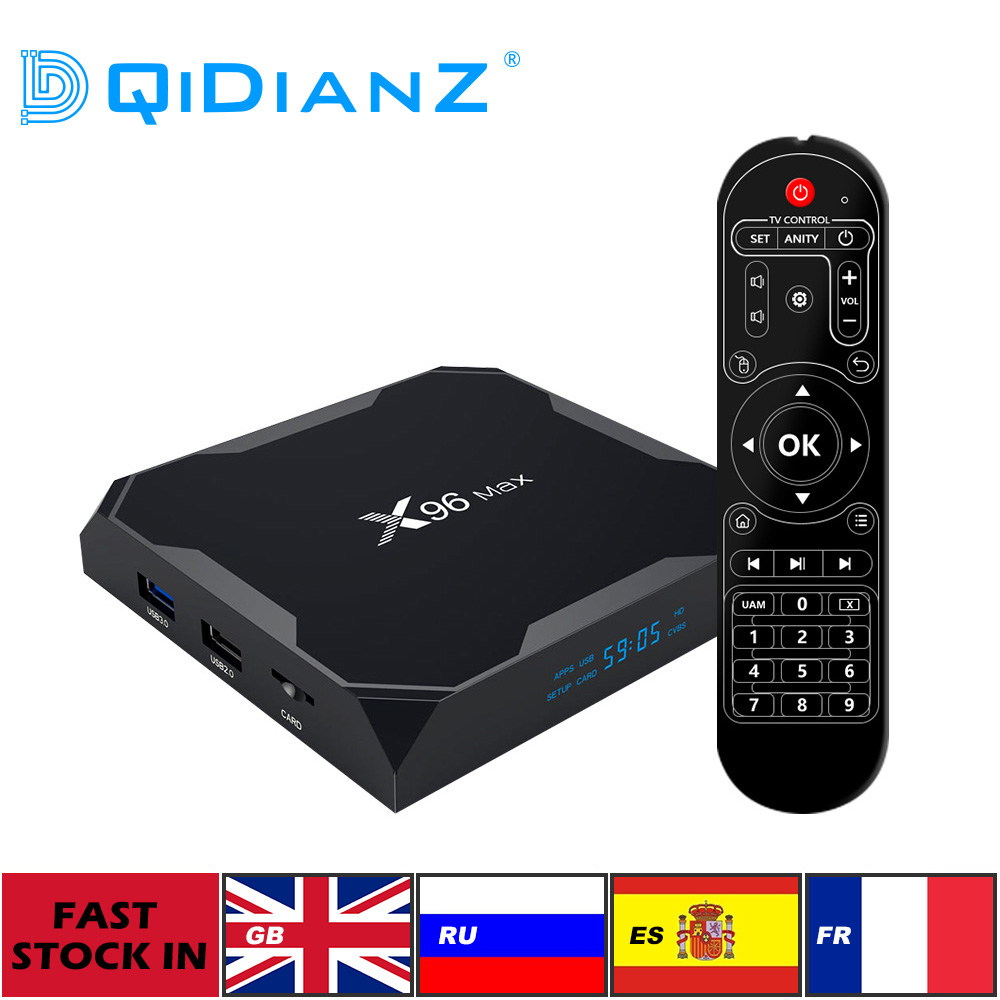 DQiDianZ X96Max Smart TV BOX Android 9 0 Set Top Box Support Voice Remote Amlogic S905X2