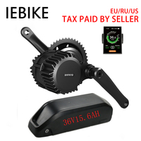 Bafang BBS02 36V500W Mid Motor Electric Bike Conversion Kit with 36V15.6AH Battery Bicycle Engine Kit Electric Bike E Bike Kit