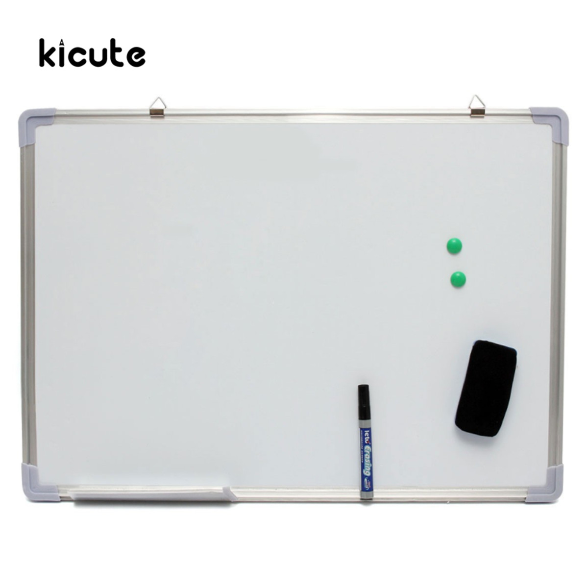 Kicute 500x700MM Magnetic Dry Erase Whiteboard Writing Board Double Side With Pen Erase Magnets Buttons For Office School цена