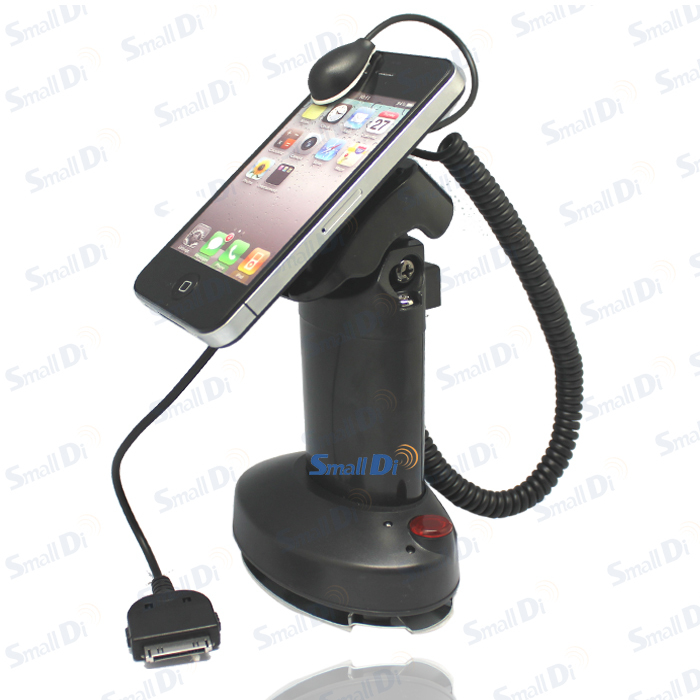 ФОТО Wholesale Cell mobile phone store security anti-theft showing alarm stand holder rack with charge/ alarm/ adjustable head