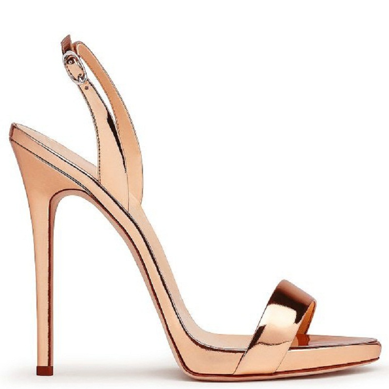 ФОТО Black High Heels Sandals Women Brands Style Ladies Sandals Elegant Nude Heels Sexy Red Shoes Gold Open Toe Stilettos Plus Size