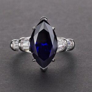 Image 3 - Pansysen高級婚約指輪女性新デザインmariquesa切断 925 スターリングシルバージュエリーリングファインジュエリー