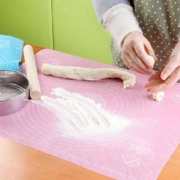 Silicone Rolling Fondant Mat Cake Dough Fondant Rolling Kneading Mat Baking Mat Pad With Scale Bakeware Baking Tools