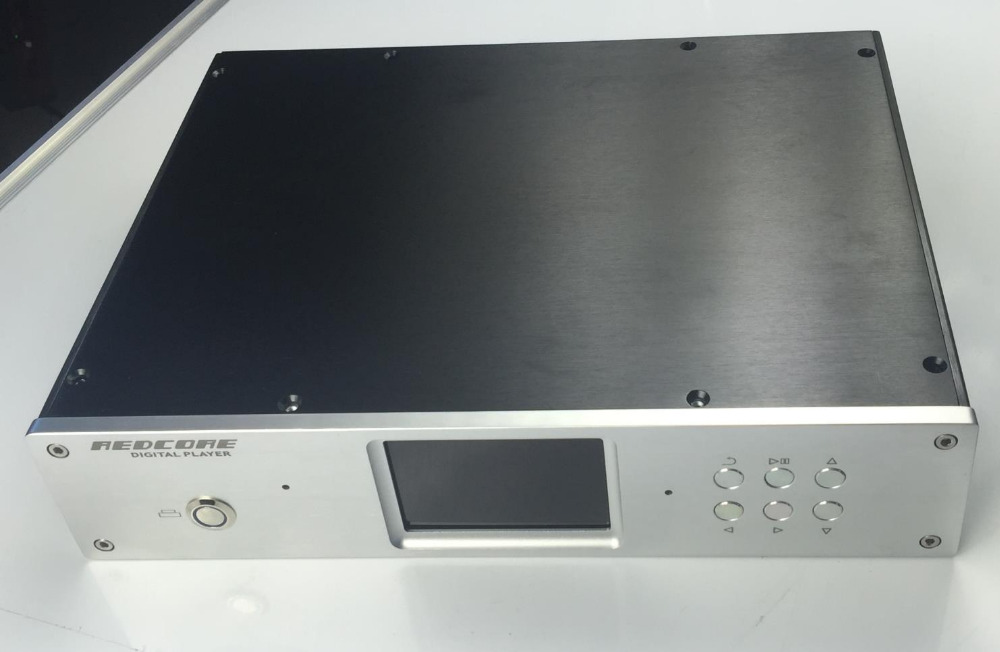 ФОТО 400A silver full Aluminum Preamplifier enclosure/amplifier chassis AMP BOX