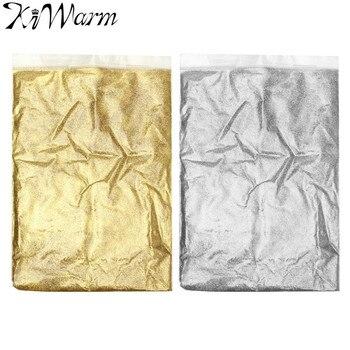 Kiwarm 100g Gold Silver Ultra Fine Glitter Dust Powder Ceramic Paper