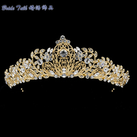 Austrian Crystals Tiara Royal Crown Bridal Wedding Hair Jewelry Accessories Women Headpiece JHA3445