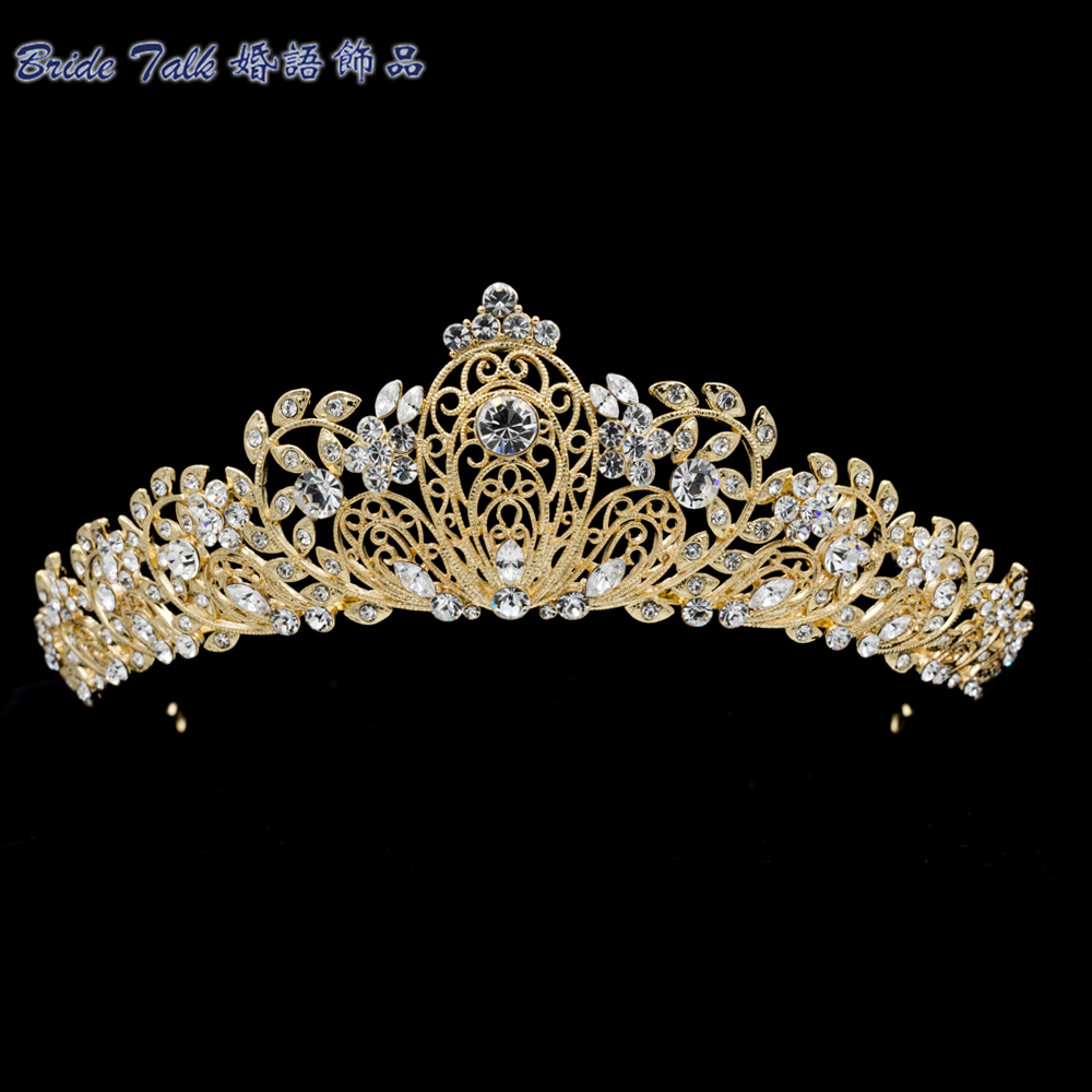 تيجان ملكية  امبراطورية فاخرة Austrian-Crystals-font-b-Tiara-b-font-font-b-Royal-b-font-font-b-Crown-b