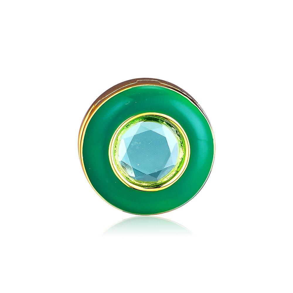2019 jóia Nova Primavera Reflexões Radiante Verde Círculo Encantos Clipe Pingentes 925 Sterling Silver bead Encantos Fit Pulseiras DIY