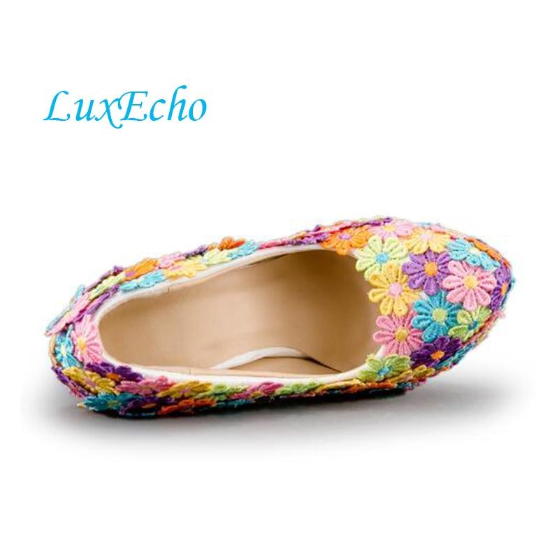 Luxe Talons De Nouvelle Heel forme Haute 8cm Arrivée Fleur 14cm Coloré Heel Chaussures Ab Plate Talon Heel Des Mariage 11cm Strass Femmes TTCEnP