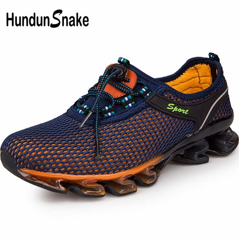 Hundunsnake Big Size Running Shoes Men Sneakers Male Sports Shoes Men Sport Shoes Outdoor Gym Shoes Men Blue Trainers Walk B-038