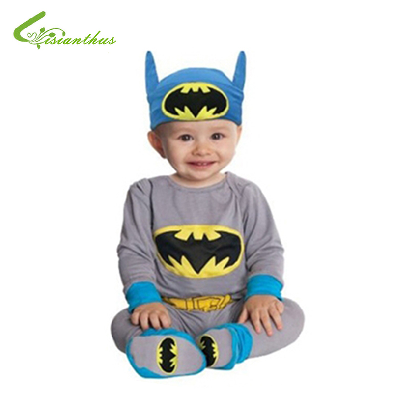 Baby Romper Batman Supergirl Superman Long Sleeve Toddlers 2PCS Clothing Set Halloween Christmas Costume Spring Autumn Free Ship