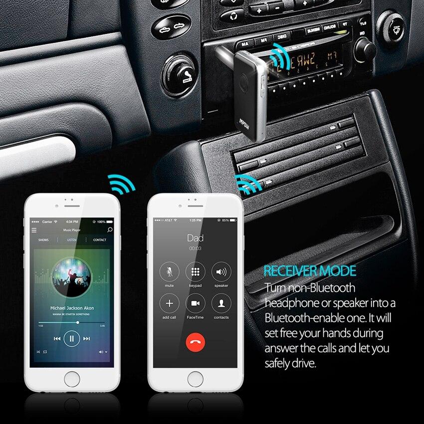 Mpow bluetooth передатчик и приемник 3.5 мм аудио кабель 2-в-1 Беспроводной Адаптер для наушников Динамик ТВ PC автомобильные стереосистемы mp3 mp4