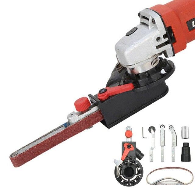 """Açı öğütücü Mini DIY zımpara zımpara kayışı adaptörü taşlama makinesi Bandfile kemer kafa zımpara 115mm 4.5 """"ve 125mm 5"""""""